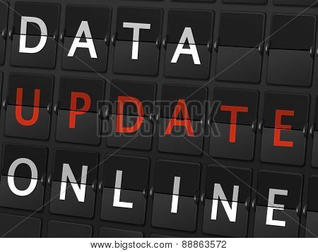 Data Update Online Words On Airport Board