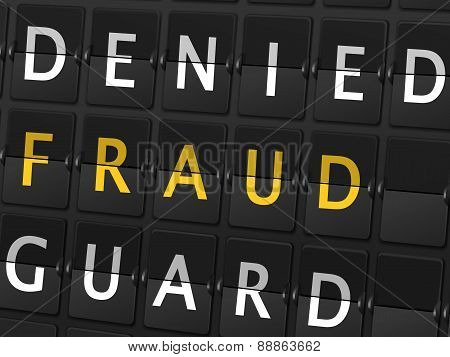 Denied Fraud Guard Words On Airport Board