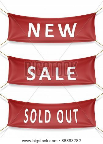 New, Sale And Sold Out Banner