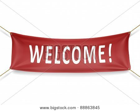 Welcome Red Banner