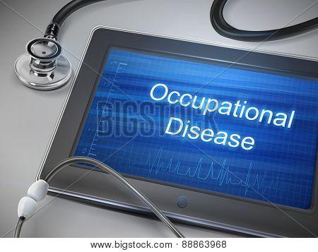 Occupational Disease Words Displayed On Tablet