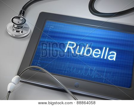 Rubella Word Displayed On Tablet