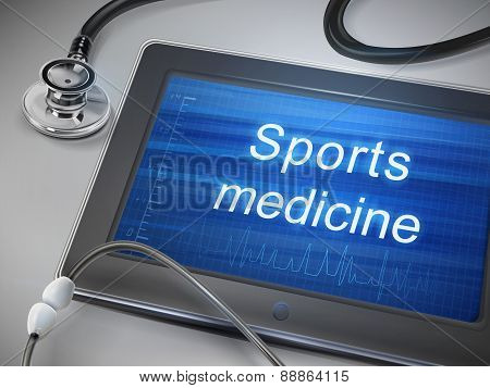Sports Medicine Words Displayed On Tablet