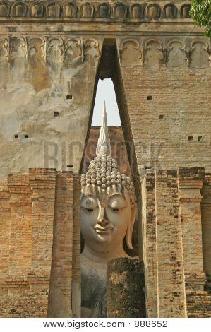 Large Standing Buddha Sukhothai,Thailand