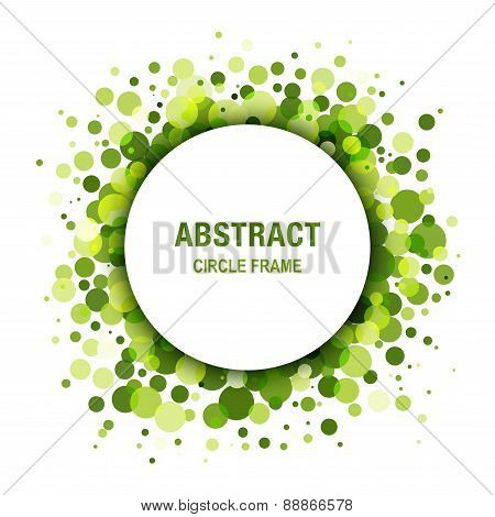 Green - Eco Spring Abstract Circle Frame Design Element