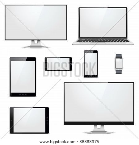 Vector Modern Electronic Devices
