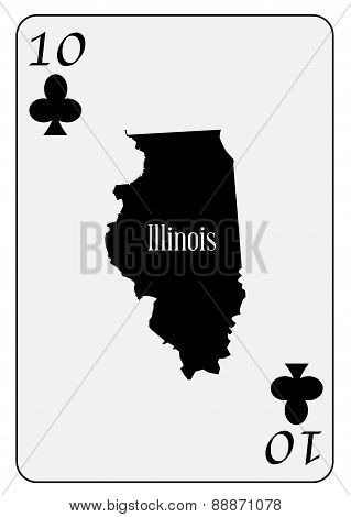 Usa Playing Card 10 Clubs