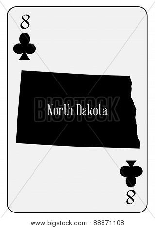 Usa Playing Card 8 Clubs