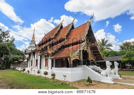 old temple at Chiangmai of Thailand