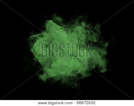 Illustration Of Green Smoke On Black Background