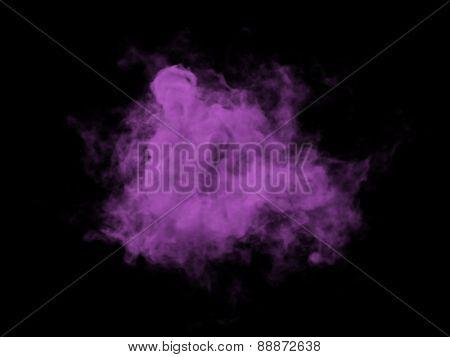 Illustration Of Violett Smoke On Black Background