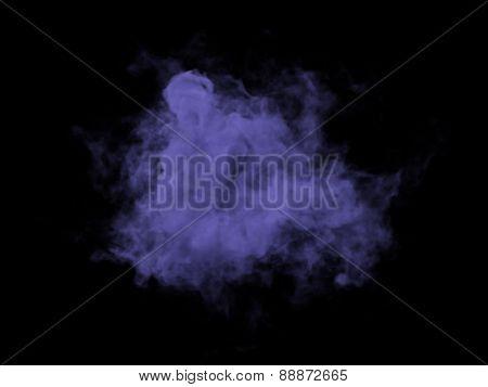Illustration Of Lilac Smoke On Black Background