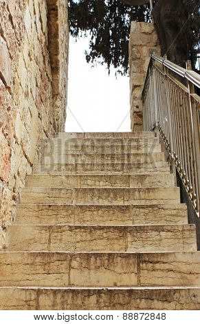 Old stone steps in Jerusalem