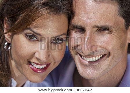 Successful Happy Middle Aged Man And Woman Couple Portrait