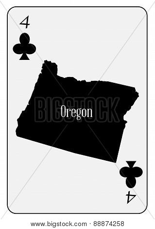 Usa Playing Card 4 Clubs