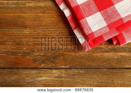 Napkin on wooden background