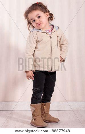 Girl Pouting