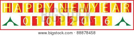 Happy New Year 1St Jan Holiday Start Begin Concept