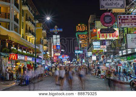 Khao San Road in Bangkok Thailand