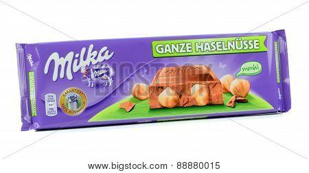 Milka Mondelez hazelnut milk chocolate