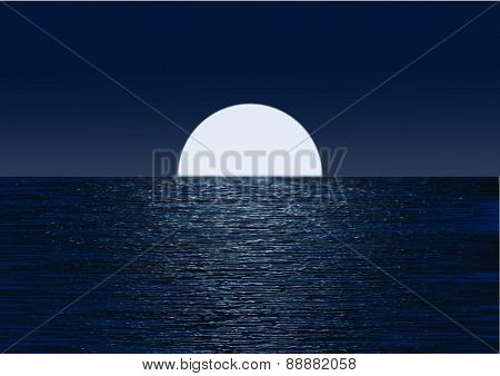 Moonlight On Water 02