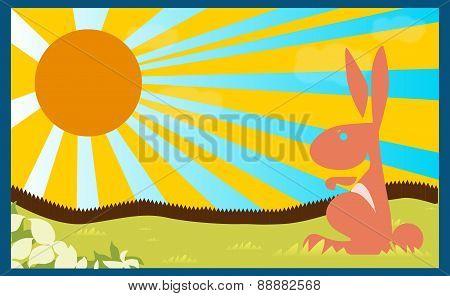 Poster Background Rabbit Children Book Child Concept