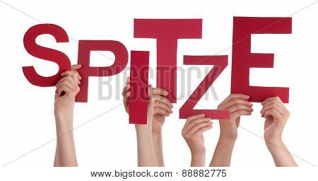 People Holding German Word Spitze Means Super