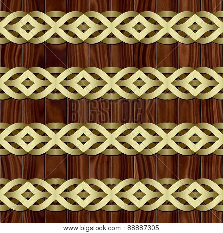 Celtic Waves Decoration Generated Seamless Texture