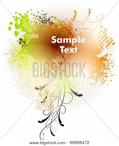 Abstract colorful background in grunge style and blank space for text.