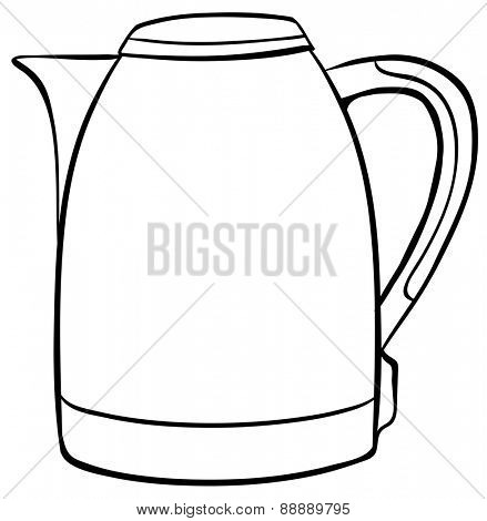 Simple kettle in black outline