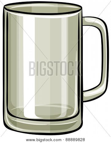 Close up plain beer glass