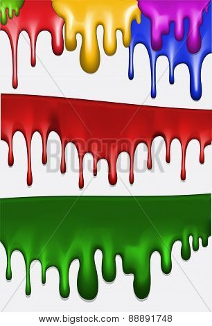Abstract colorful streaks of paint. Vector illustration for your design.