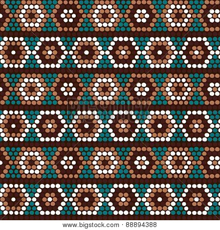 Traditional Ethnic African Ornament. Seamless Pattern. Beads Imitation.