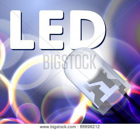 Abstract background with blue LED. Vector illustration for your design.