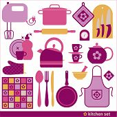 pic of backround  - Kitchen icons set of tools - JPG