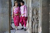 foto of ceremonial clothing  - ANGKOR WAT SIEM REAP CAMBODIA JANUARY 28 2015 - JPG