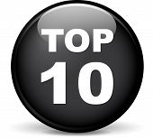 stock photo of ten  - Illustration of top ten modern design black sphere icon - JPG
