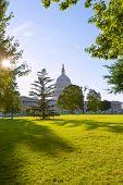 picture of capitol building  - Capitol building Washington DC sunset garden USA US congress - JPG