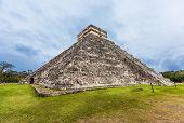 foto of mayan  - Chichen Itza Mayan Pyramid in Yucatan Mexico - JPG