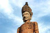 foto of hindu  - Ancient Buddha hindu style statue at Sala Kaew Ku Nongkhai Thailand  - JPG