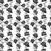 stock photo of english rose  - Beautiful  seamless wallpaper with rose flowers - JPG