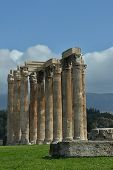 picture of olympian  - A view of the ruins of the Olympian Zeus Temple in Athens - JPG