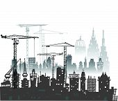 picture of lorries  - Building site with buildings - JPG