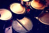 stock photo of drum-set  - Drums conceptual image - JPG