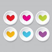 stock photo of heart  - Vector hearts set - JPG