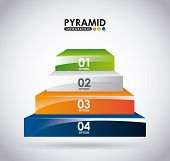 image of pyramid shape  - pyramid infographic design - JPG