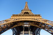 picture of bottom  - A view from the bottom of Eiffel Tower