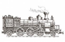 foto of loco  - sketch - JPG