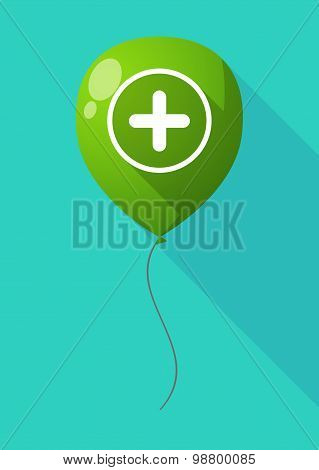 Long Shadow Balloon With A Sum Sign