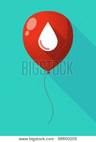 Long Shadow Balloon With A Blood Drop